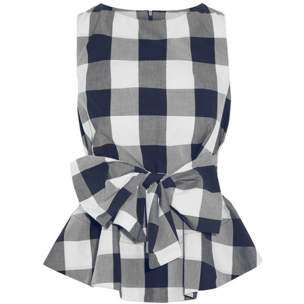 How to Wear Gingham This Spring - Fashionista ❤ liked on Polyvore featuring tops