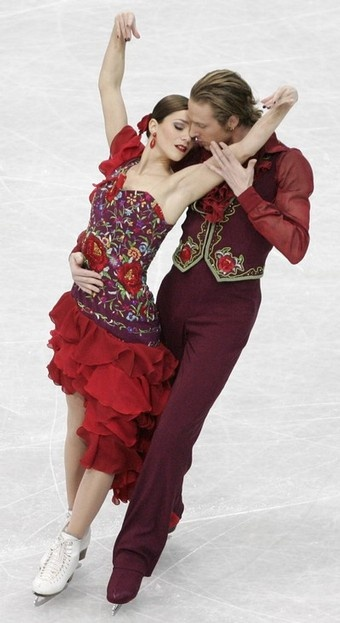 French ice dancers Nathalie Péchalat & Fabian Bourzat. Watching these two slate makes me happy.