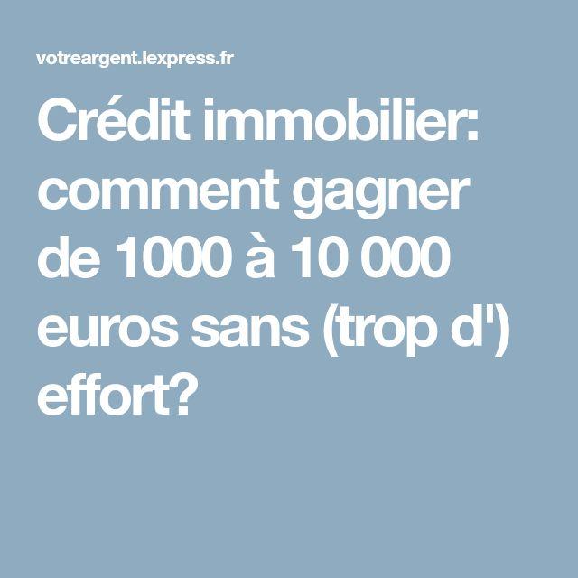 Crédit immobilier: comment gagner de 1000 à 10 000 euros sans (trop d') effort?