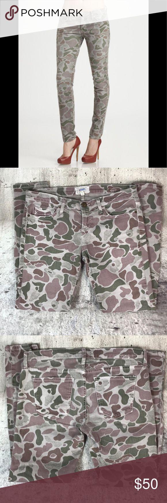 "Current Elliott Camo skinny jeans Current Elliott Camo skinny jeans cotton and spandex blend inseam 29"" rise 8.5"" Anthropologie Jeans Skinny"