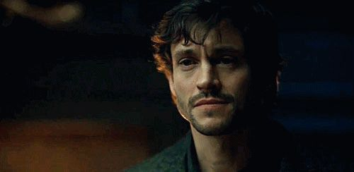Sherlock & Hannibal — Hannibal looks like a shy cannibal on his first...