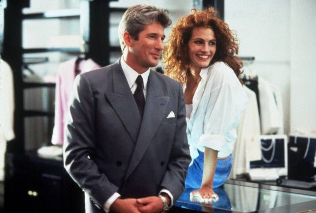 No Merchandising. Editorial Use Only.. Mandatory Credit: Photo by SNAP/REX (390848gl).. 'PRETTY WOMAN' Richard Gere, Julia Roberts - 1990,.. VARIOUS.. ..