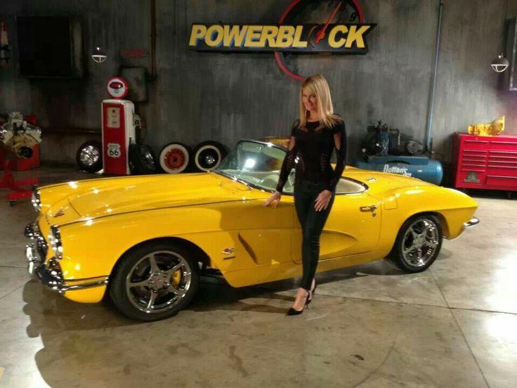 Courtney Hansen and 62 Corvette