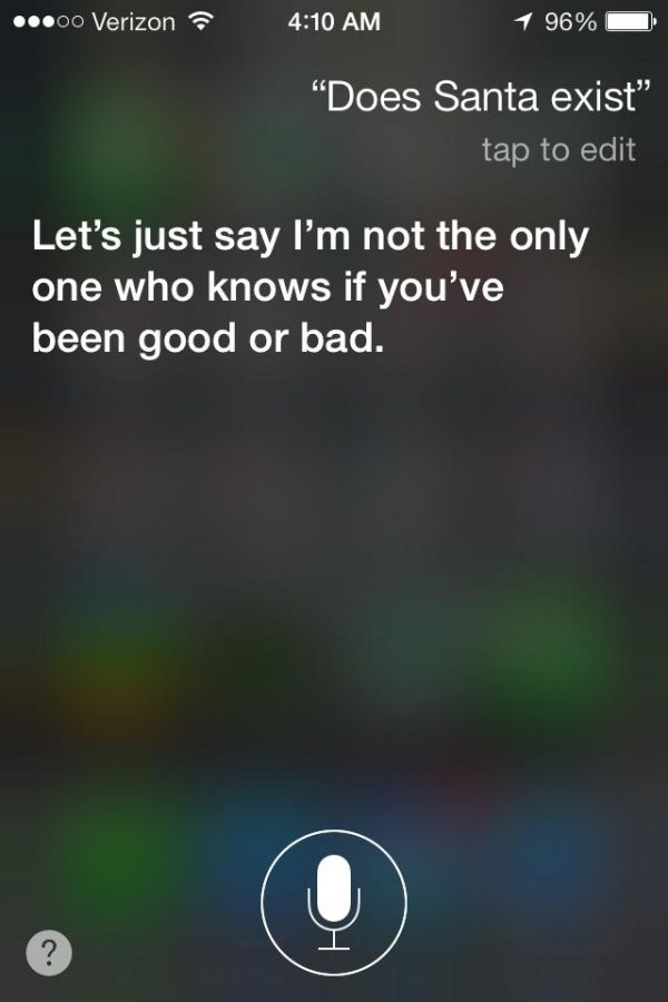 2. Does Santa Exist? - 13 Funny Questions to Ask Siri for Your Own Amusement ... → Funny