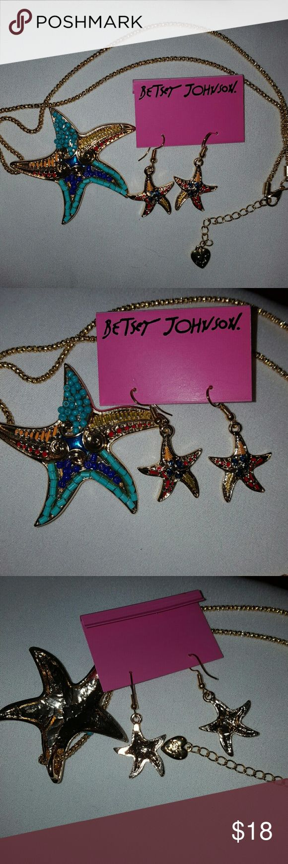 Betsey Johnson Starfish Set Nwot