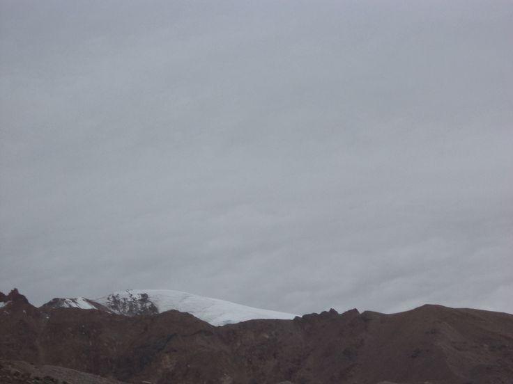 Rumbo a la cumbre a más de 4000 m de altura