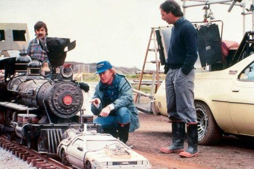 On the set of Back to the Future 3