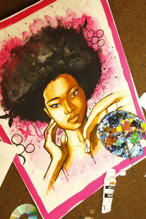 Natural Beauty, natural hair art. Curly, afro, ebony, black, kinky, wavy, rasta, natural hair...www.facebook.com/gonaturalspain