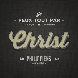 TABLEAU CHRIST PHILIPPIENS 4.13 - 20CM X 20CM