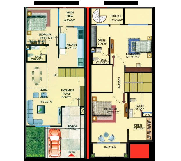 20 X 50 House Floor Plans Designs Best Of London Villa Indoreedgerealty Home Design Floor Plans Floor Plan Design Simple House Plans