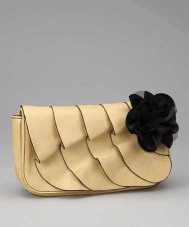 Take A Look At This Yellow Flower Clutch By Chocolate New York On Zulily Today