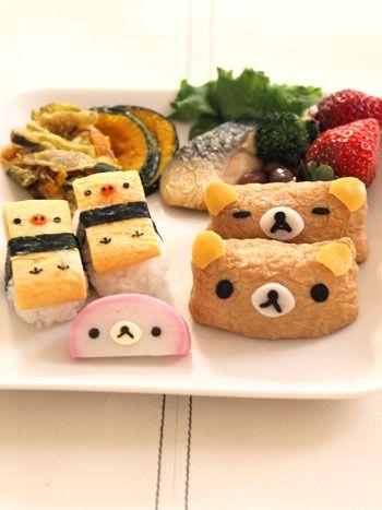 日本人のごはん/お弁当 Japanese meals/Bento リラックマ寿司プレート Rilakkuma sushi plate