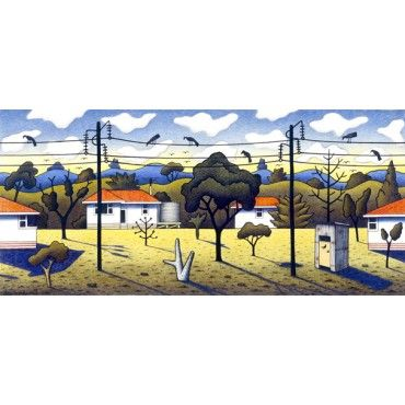 Birds on a Wire by Reg Mombassa http://www.theageshop.com.au/birds-on-a-wire