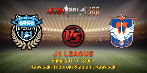 Prediksi Kawasaki Frontale Vs Albirex Niigata, Prediksi Skor Kawasaki Frontale Vs Albirex Niigata, Prediksi Akurat Kawasaki Frontale Vs Albirex Niigata. Partai seru mempertemukan antara Kawasaki Frontale Vs Albirex Niigata pada ajang J1 LEAGUE pekan ini akan digelar Jumat, o5 Mei 2017 • Pukul 13:00 WIB langsung dari Kawasaki Todoroki Stadium, Kawasaki.