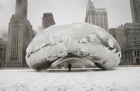 The bean in the winter. Awesome.