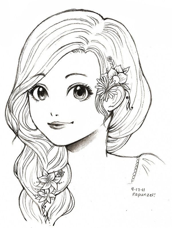 Coloring Pages For Rapunzel : 584 best crafts coloring pages images on pinterest