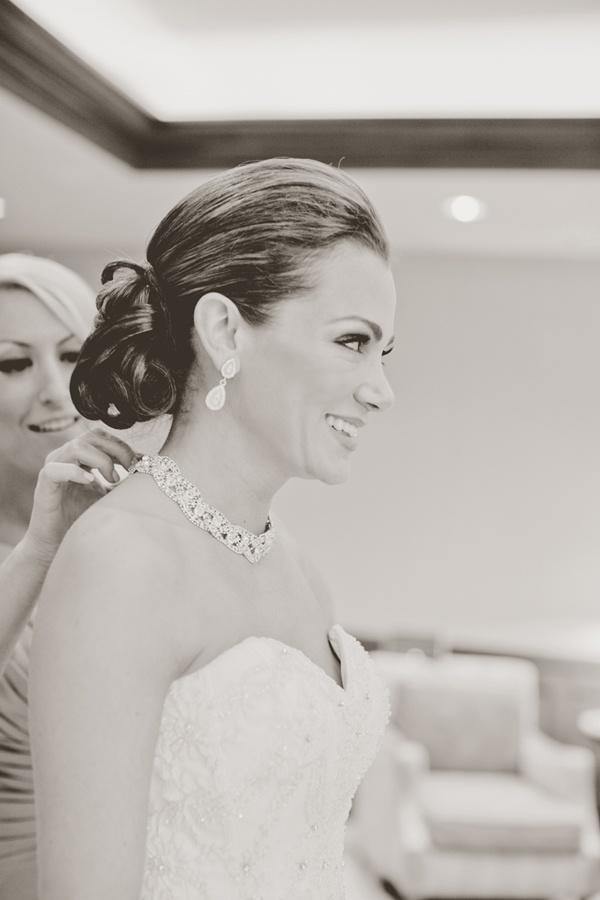 Bride getting ready for her wedding day. #wedding #bride http://www.weddingchicks.com/