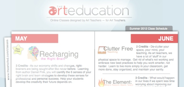 A good art teacher's website filled with articles and lessons, to help out teachers!