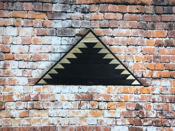 Lath Mountain Art Black Rustic Wall Art Wood Reclaimed Lath