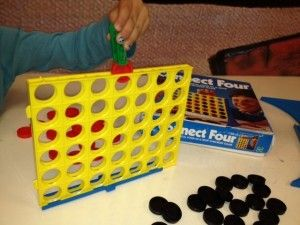 Rationale: increasing intrinsic hand strength, especially for the fingers that hold a pencil, Resistive pin to pick up checkers grade activity up. Connect Four, used this activity with adults and pediatrics.