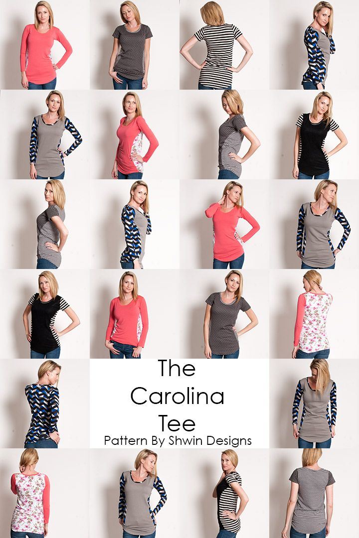 Carolina Tee Pattern || PDF Pattern || Shwin Designs