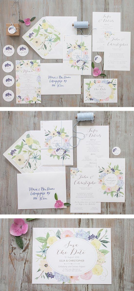 """#Hochzeitseinladungen """"symphonia"""" #blumen #flowers #wedding stationery #weddinginvitation, online bestellbar bei www.papierhimmel.com"""