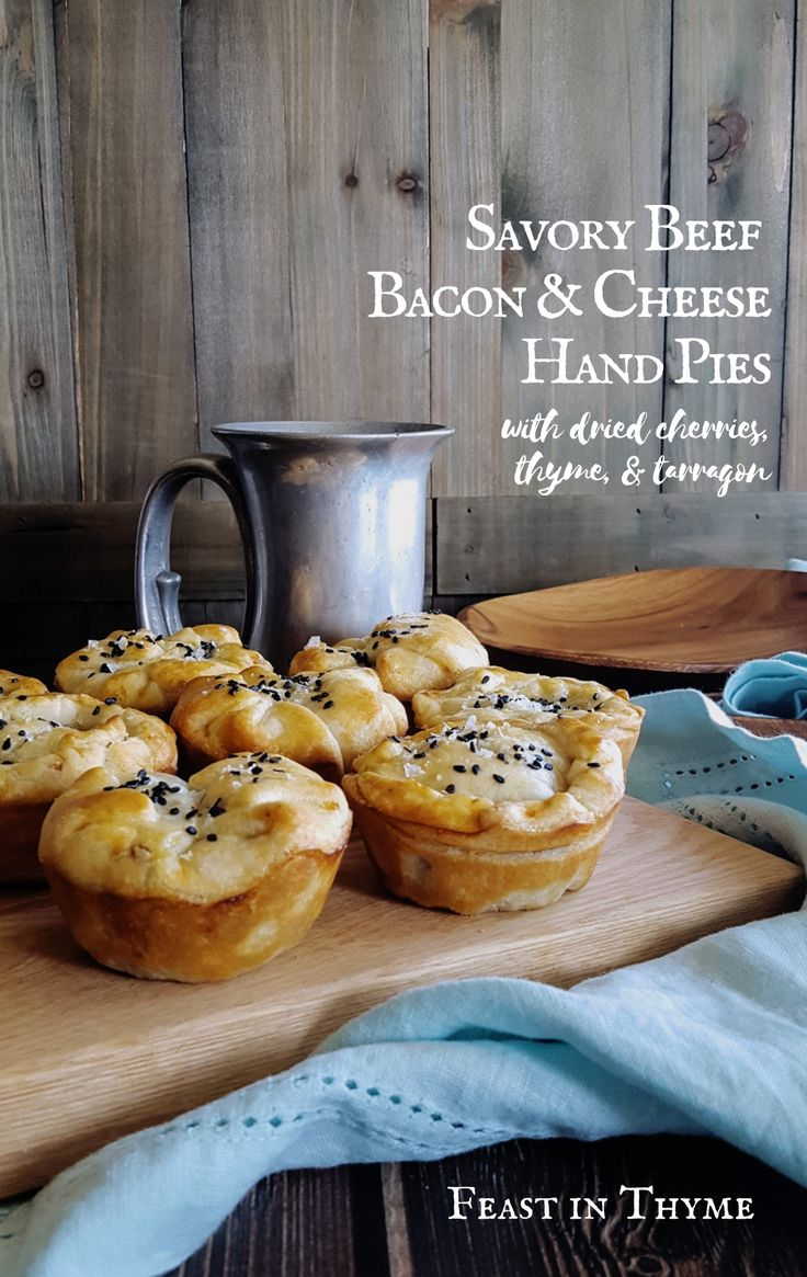 Savory Minced Beef, Bacon & Cheese Hand Pies Recipe