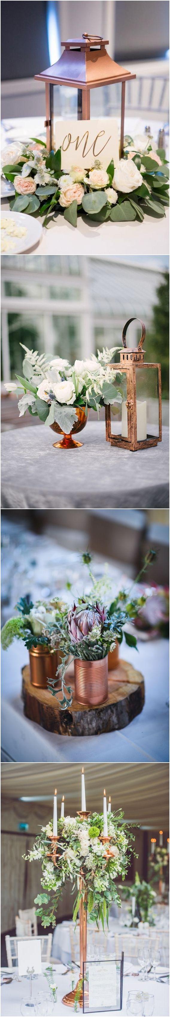 greenery and copper wedding table ❤️ #greenerywedding #goldwedding #copperwedding #vintagewedding #weddingcolors #weddingideas http://www.deerpearlflowers.com/copper-and-greenery-wedding-color-ideas/