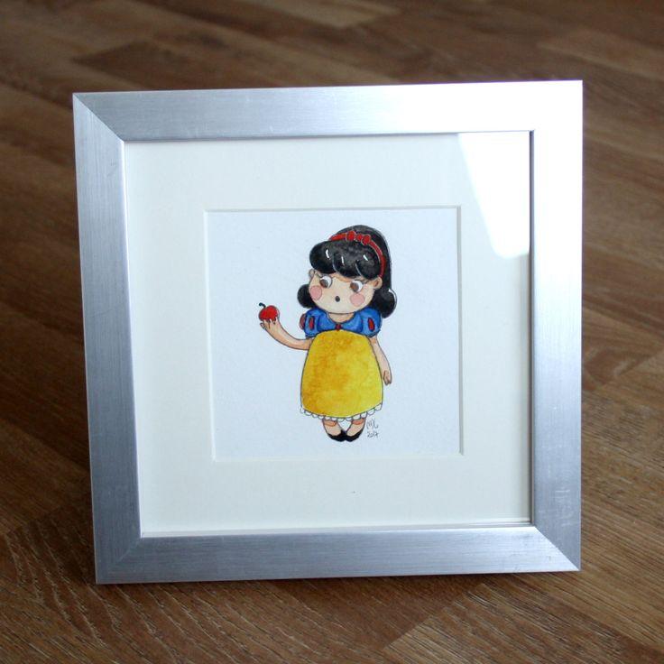 Illustration Mini Blanche Neige de la boutique MelleCreationsArt sur Etsy