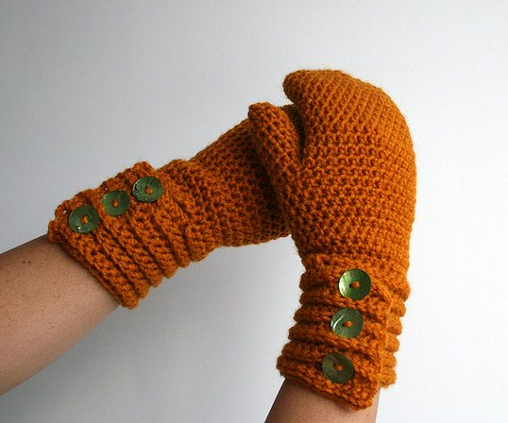 Crochet pattern girl and women mittens pattern by LuzPatterns