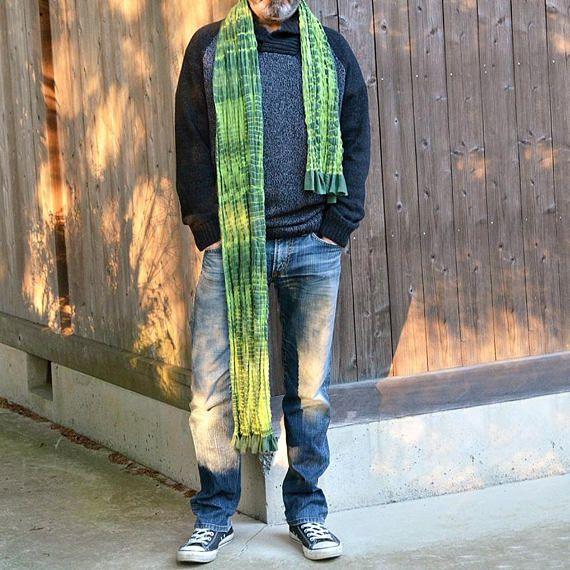 Long scarf. Japanese craft. Made in Japan. Custom Made