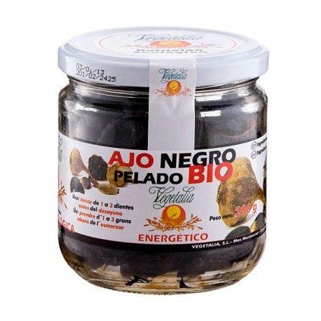Ajo Negro pelado Bio 200 g. Todas las propiedades del ajo pero realzadas y sin su sabor.