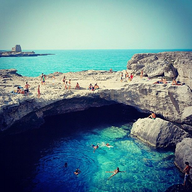 """""""Rocca Vechia, Italy""""Roca Vecchia, Buckets Lists, Favorite Places, Rocavecchia, Travel, Swimming Hole, Italy, Grotta Della, Della Poesia"""