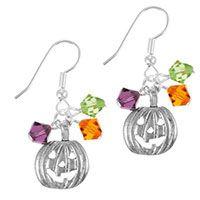 Halloween Charms & Crystals Earrings - Traditional Halloween | GoodyBeads.com