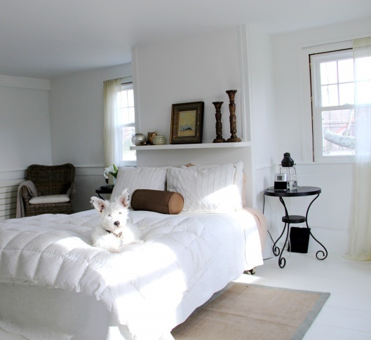 Benjamin Moore Simply White: The Master Bedroom