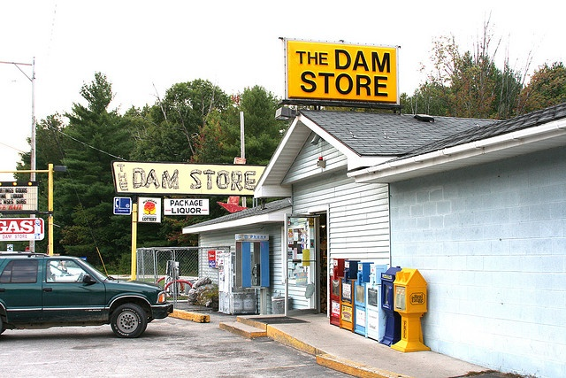 The Dam Store Oscoda Michigan. Popular little store right by the river. Have stopped here many times when going to the Ausable River.