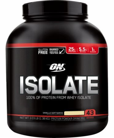 Optimum Nutrition Isolate Vanilla Softserve 3 Lbs. OPT4210052 Vanilla Softserve - 100% Of The Protein From Whey Isolate