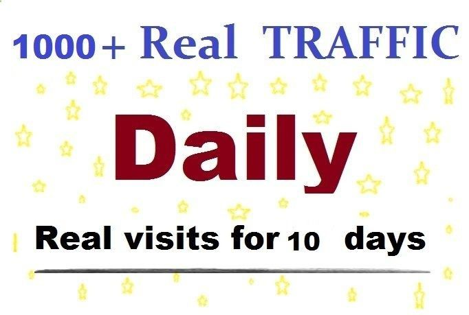 1000 daily views for 10 days google real safe website traffic real people #ad