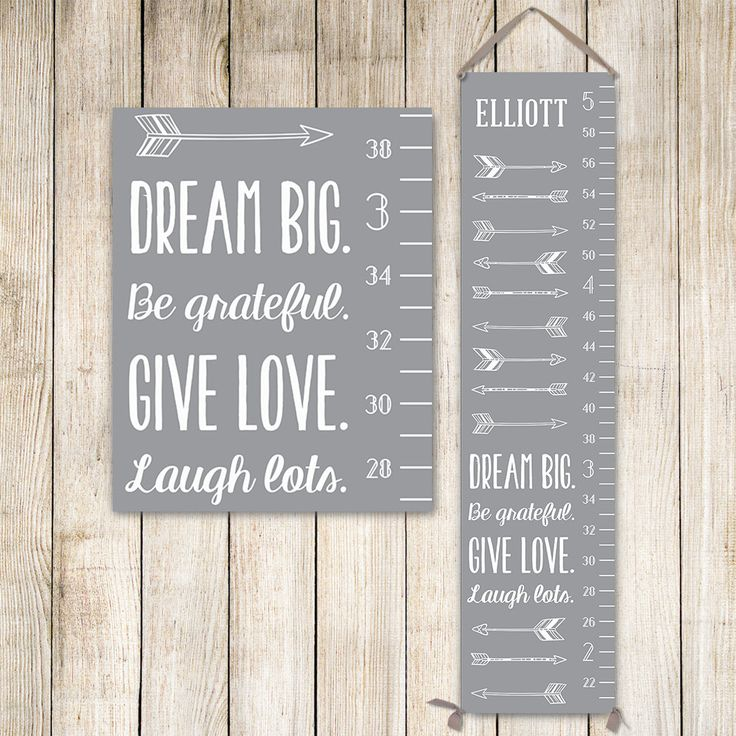 Modern Growth Chart - Personalized Canvas Growth Chart, Grey Kids Art, Growth Ruler, Growth Chart Ruler, Personalized Kids Art - GC0002G by JoliePrints on Etsy