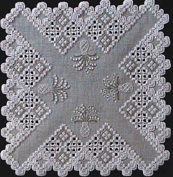 Lily of the Valley (Hardanger embroidery)