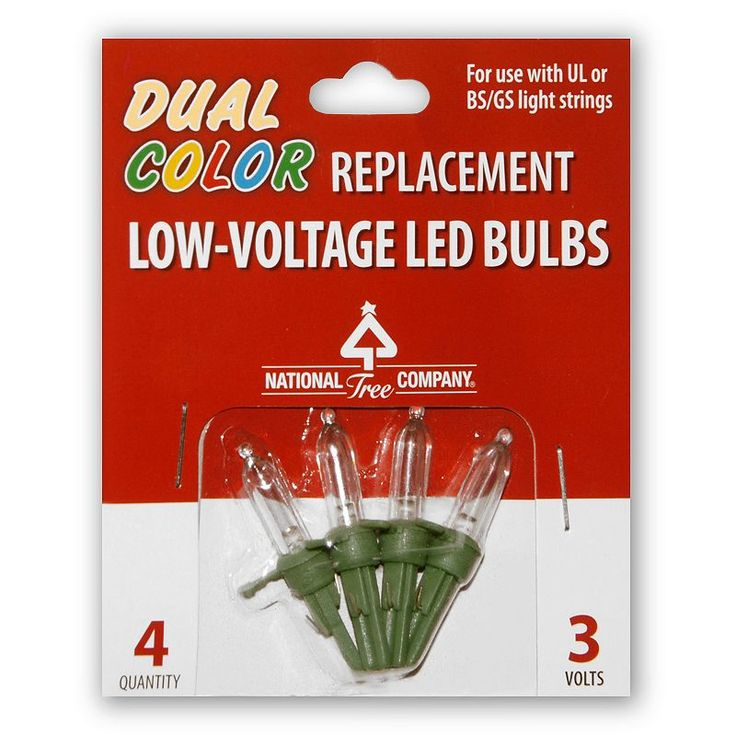 National Tree Company Dual Color LED Replacement Bulbs Blister Pack, Multicolor
