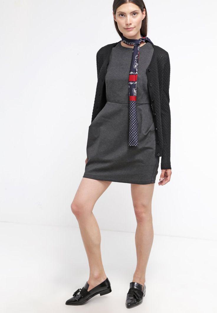 ¡Cómpralo ya!. Molly Bracken Vestido de algodón anthracite.  , vestidoinformal, casual, informales, informal, day, kleidcasual, vestidoinformal, robeinformelle, vestitoinformale, día. Vestido informal  de mujer color gris pizarra claro de Molly bracken.