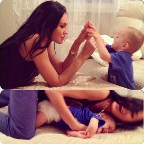 Megan Fox and her son, Noah