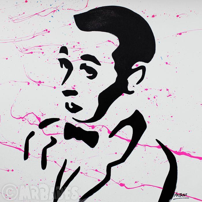 """MIJNHEER. BABES - Pee-Wee Herman (Paul Reubens)  Grootte: 30 """"x 30"""" (77x77cm)Medium: Acryl Spray & huis verf op doekEditie: origineleHand ondertekend rechtsonderOrigineel handgeschilderde & een van een soortCertificaat van echtheid opgenomenMIJNHEER. BABES is een Hawaiiaanse pop kunstenaar wiens werk heeft tentoongesteld overal uit New York naar Tokyo. Voordat hij werd bekend als een professionele kunstenaar heer. BABES gevonden succes als een kunst makelaar curator en opvoeder. Zijn…"""