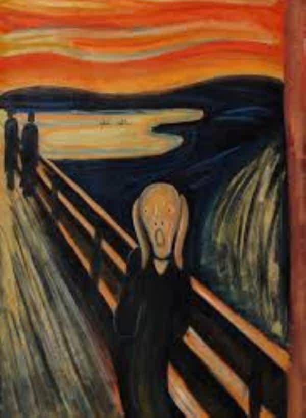 لوحة الصرخة أشهر الأعمال الفنية بعد الموناليزا Abstract Canvas Painting Canvas Art Painting Painting