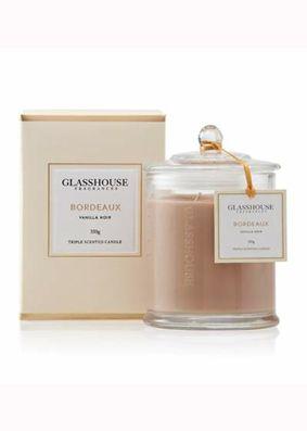 Glasshouse Bordeaux Vanilla Noir Candle