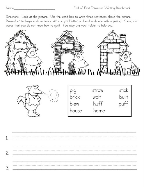 Three Little Pigs sentence writing could be used after