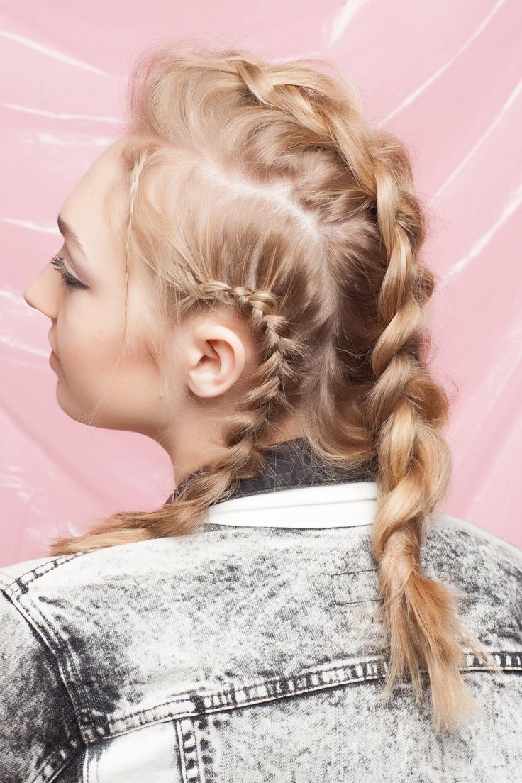 4 Braid DIYs You HAVEN'T Seen Before #refinery29  http://www.refinery29.com/new-braid-styles#slide12  The final result is pretty and bohemian, but fierce enough for a warrior princess.