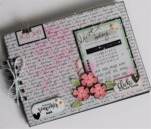 Mini Album avec le kit inspiration Octobre 2017 par Thalie