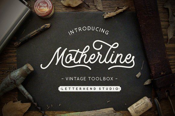 Motherline Vintage Toolbox by letterhend on @creativemarket